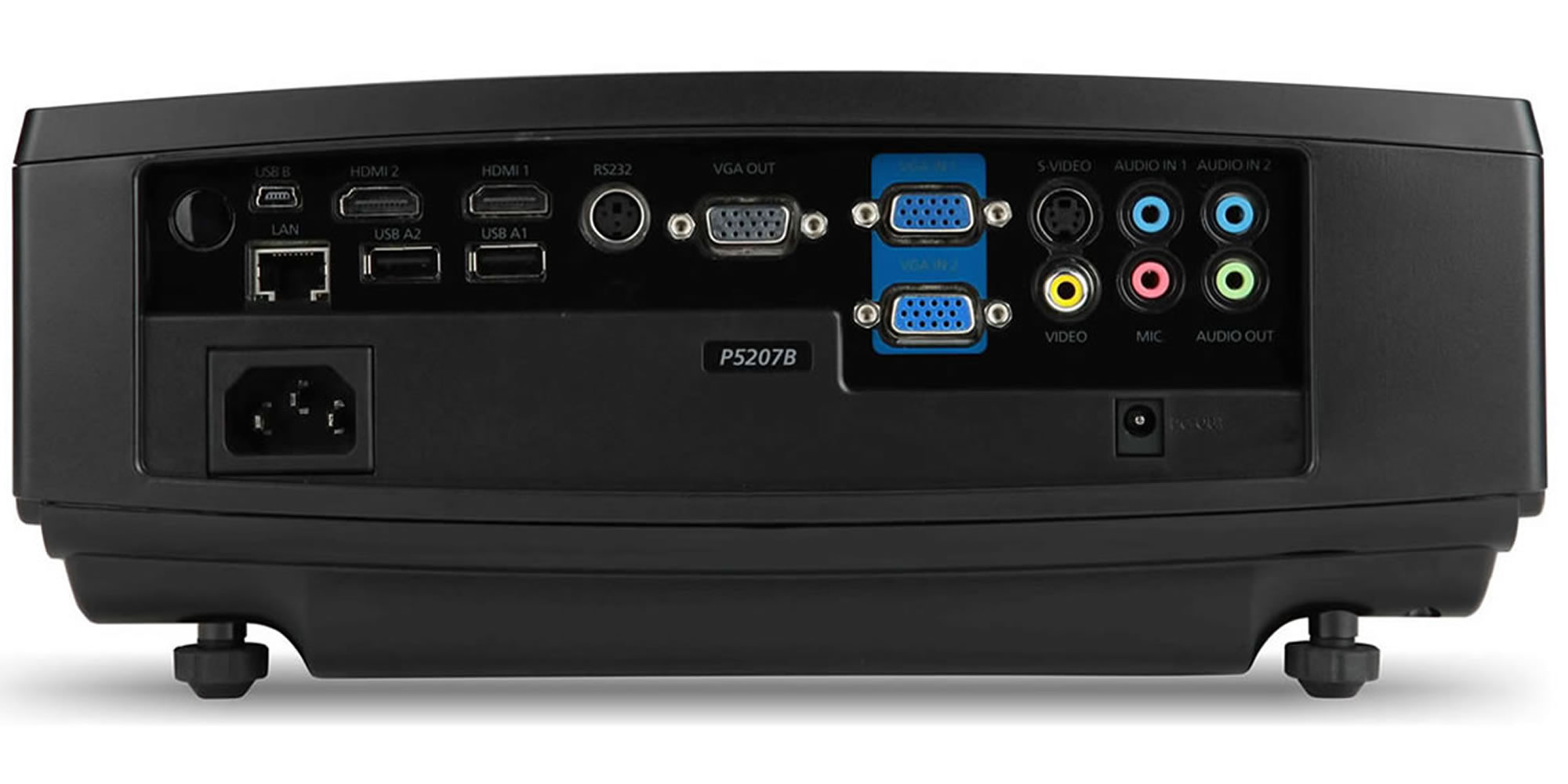 ACER P5207B Projector - Rear Inputs