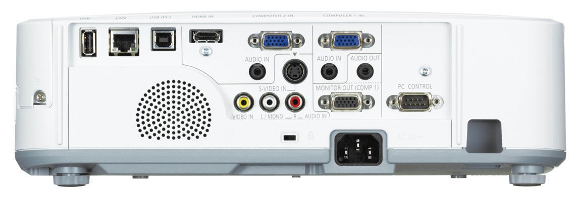 NEC NP-M300X Rear Inputs