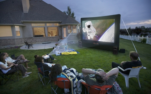Projector In Your Backyard