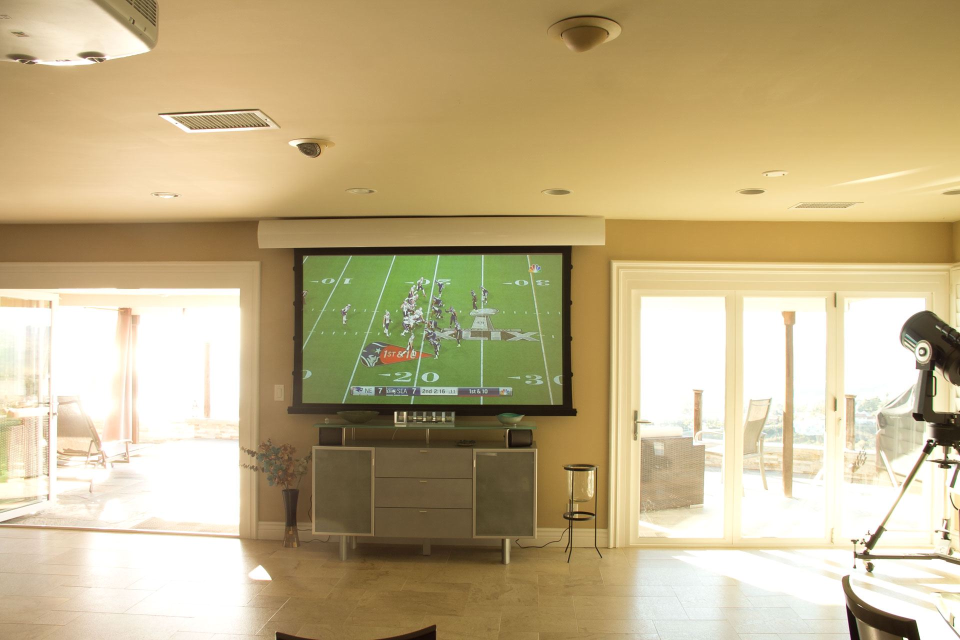 Projector In Bright Living Room