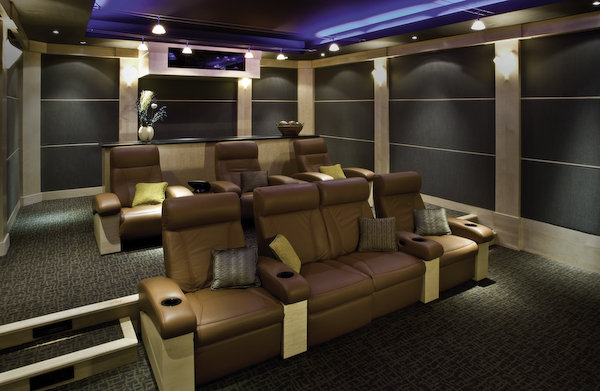 tips for installing a home theater inside a basement or. Black Bedroom Furniture Sets. Home Design Ideas